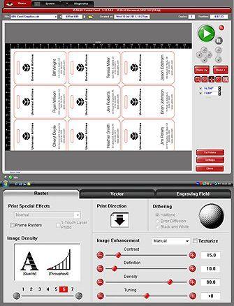 ドライバーの条件設定のパソコン画面