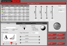 レーザーインターフェースプラスの条件設定画面