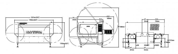 Ils12.75Dの寸法図