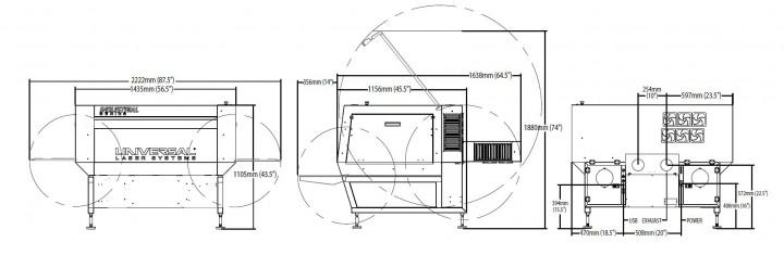 Ils9.75Dの寸法図