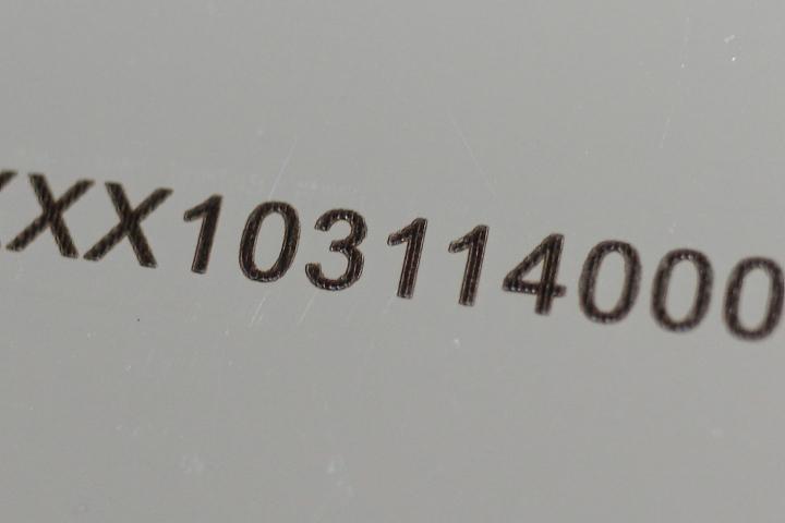 HPDFOレンズを装着しステンレスへマーキングを行った加工例02