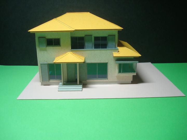 赤堀様がレーザー加工機で製作された住宅模型02