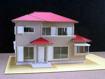 赤堀様がレーザー加工機で製作された住宅模型01