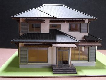 赤堀様がレーザー加工機で製作された住宅模型03