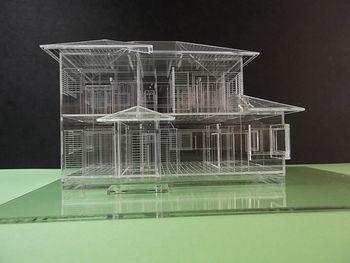 赤堀様がレーザー加工機で製作された住宅模型04