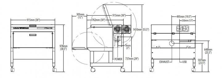 vls3.60の寸法図