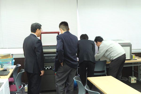 ヨコハマシステムズ大阪展示会場の様子その1