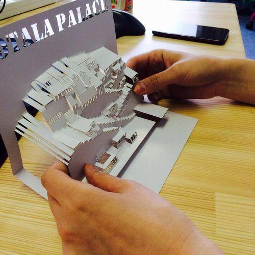 紙のレーザー加工サンプル