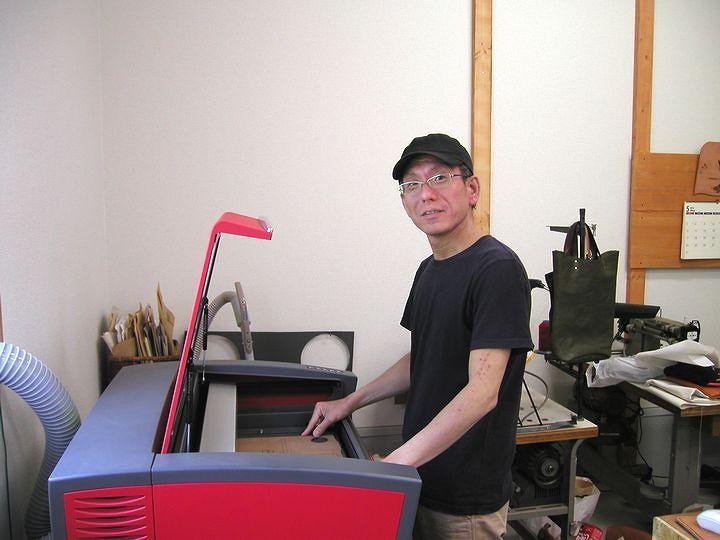 VLS3.50と未来皮革工房のオーナー田中秀樹様