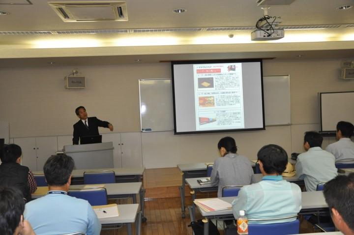 高知県立紙産業技術センターでのレーザー加工機説明会